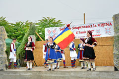 ` Serbare Campeneasca ` in Visina-dorp, Tulcea stock afbeelding