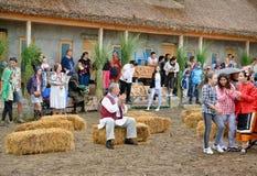 ` Serbare Campeneasca ` w Visina, Tulcea, Rumunia obrazy royalty free