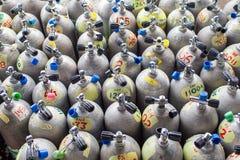 Serbatoi di immersione con bombole Immagini Stock Libere da Diritti