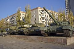 Serbatoi sovietici Immagine Stock Libera da Diritti