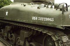 Serbatoio americano dello Sherman Fotografia Stock Libera da Diritti