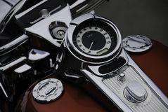 Serbatoio del motociclo e manopola del tachimetro Fotografia Stock Libera da Diritti