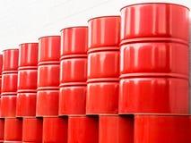 Serbatoio dell'olio rosso nella pompa di olio Fotografia Stock Libera da Diritti