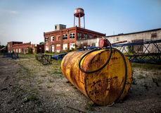 Serbatoio dell'olio sul sito industriale Fotografia Stock