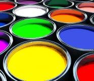 Serbatoio della vernice di colore, priorità bassa astratta Immagine Stock Libera da Diritti