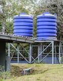 Serbatoio di acqua blu Immagini Stock
