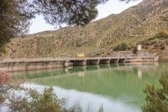 Serbatoio di acqua del EL Chorro, Alora, Spagna Fotografie Stock