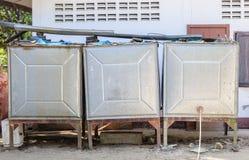 Serbatoio di acqua del metallo Fotografia Stock Libera da Diritti