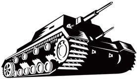 Serbatoio di battaglia illustrazione vettoriale