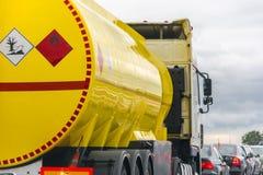 Serbatoio di combustibile giallo Immagine Stock
