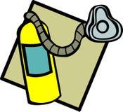 Serbatoio e mascherina di ossigeno Immagini Stock