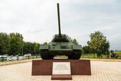 Serbatoio t-34 Vicolo di gloria in Groznyj, Cecenia Fotografie Stock