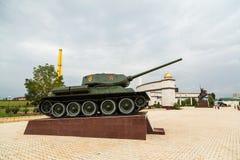 Serbatoio t-34 Vicolo di gloria in Groznyj, Cecenia Immagini Stock Libere da Diritti