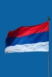 Serbe Flag-1 Stockfoto