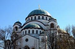 Serbe-orthodoxe Kathedralen-Kirche von St. Sava Belgrade Serbia lizenzfreie stockbilder