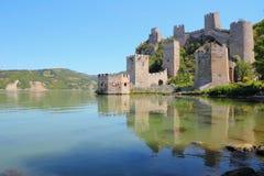 Serbia. Golubac Fortress on Danube River in Branicevo, region of Serbia Royalty Free Stock Photo