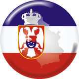Serbia. Art illustration: round medal with the flag of serbia Stock Photography