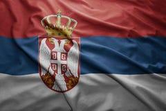 Serbia bandery Zdjęcia Royalty Free