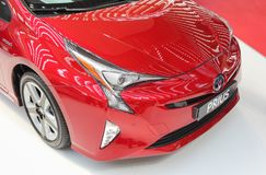 Free Serbia; Belgrade; April 2, 2017; Front Side Of Red Toyota Prius; The 53rd International Motor Show In Belgrade From March 24th To Royalty Free Stock Photography - 113912207