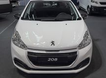 Free Serbia; Belgrade; April 2, 2017; Front Side Of White Peugeot 208; The 53rd International Motor Show In Belgrade From March 24th T Stock Photo - 113931540