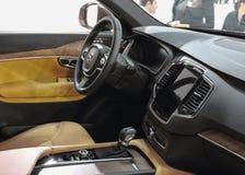 Serbia; Belgrade; Kwiecień 2, 2017; Volvo S90 kierownica wewnątrz Obraz Royalty Free