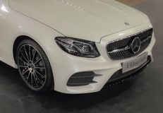 Serbia; Belgrade; March 29, 2017; Mercedes-Benz E Class Coupe; t. He 53rd International Motor Show in Belgrade from March 24th to April 2nd, 2017 Royalty Free Stock Photos