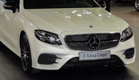 Serbia; Belgrade; Marzec 29, 2017; Mercedes-Benz E klasy Coupe fr Obraz Royalty Free