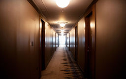 SERBIA, BELGRADE - MAY 30, 2017. Corridor. Corridor in the hotel Stock Photos