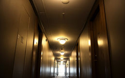 SERBIA, BELGRADE - MAY 30, 2017. Corridor. Corridor in the hotel Stock Photo