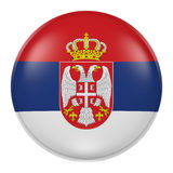 Serbia button Stock Image