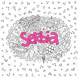 Serbia Concept Vector vector illustration
