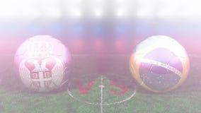Serbia contra el Brasil, mundial 2018 de la FIFA Vídeo original 3D