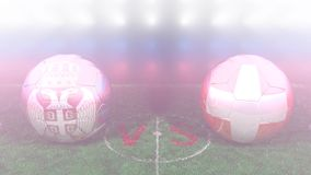 Serbia contra Suiza, mundial 2018 de la FIFA Vídeo original 3D