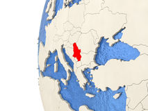 Serbia on 3D globe Royalty Free Stock Photography