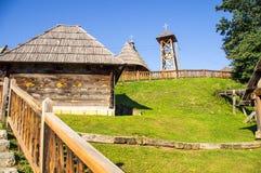 Serbia, Drvengrad Kusturica: Church and bell tower of St. Sava royalty free stock photos