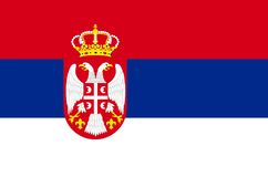 Serbia Flag Royalty Free Stock Image