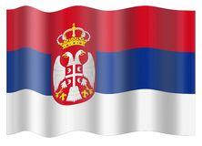 Serbia Flag Stock Images