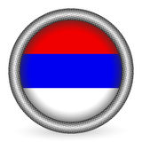 Serbia flag button Royalty Free Stock Images