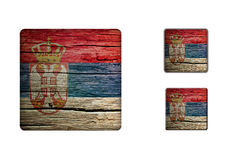 Serbia Flag Buttons Royalty Free Stock Images