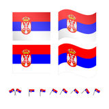 Serbia Flag Royalty Free Stock Photography