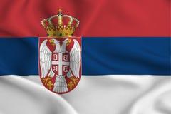 Serbia flaga ilustracja ilustracja wektor