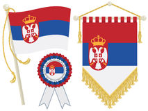 Serbia flags Stock Image