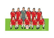 Serbia football team 2018. Qualified for the 2018 world cup in Russia Royalty Free Stock Image