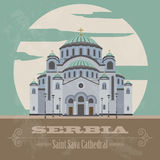 Serbia landmarks. Retro styled image Stock Photo