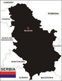Serbia map Royalty Free Stock Photography