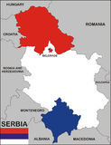 Serbia map Royalty Free Stock Photos