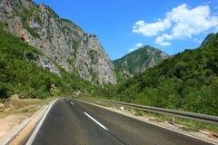 Serbia Mountain Road. Near Sopotnica Spring, Serbia royalty free stock photography