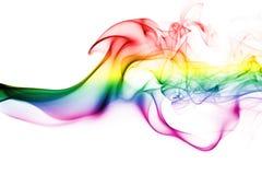 Serbia national smoke flag. Colorful rainbow smoke isolated on a white background Stock Image