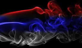 Serbia national smoke flag Royalty Free Stock Photo