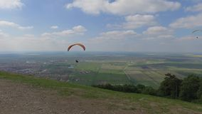 Serbia Paragliding sport stock footage